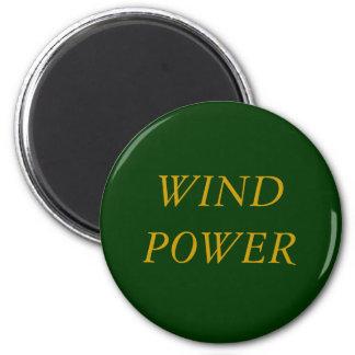 WIND POWER 6 CM ROUND MAGNET