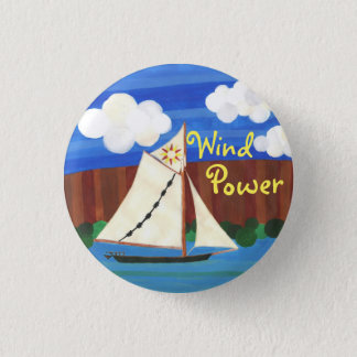 Wind Power - Clearwater 3 Cm Round Badge