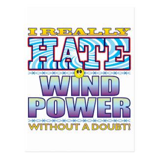 Wind Power Hate Face Postcard