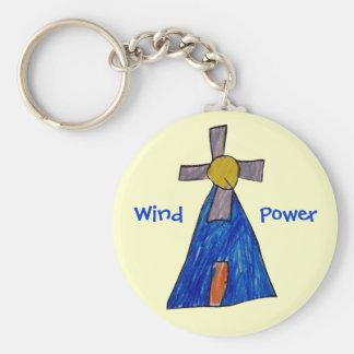 Wind Power Key Ring