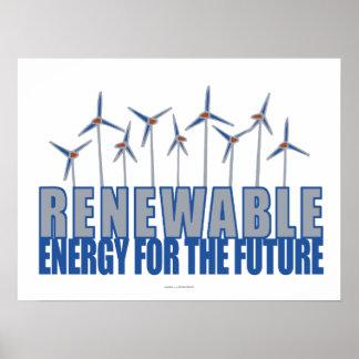 Wind Power Turbines Poster