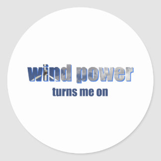 Wind Power Turns! Classic Round Sticker