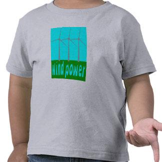 Wind Power With Turbines And Sky Tee Shirt
