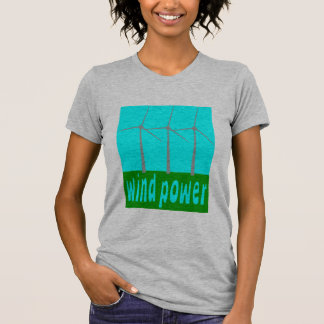 Wind Power With Turbines And Sky Shirt