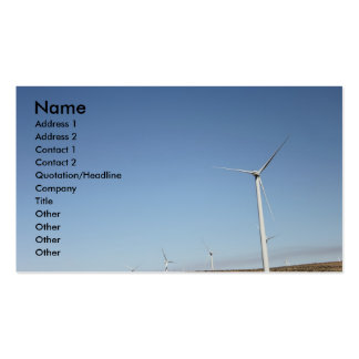 Wind powered business cards