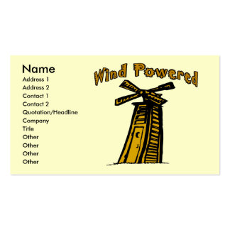 Wind Powered Outhouse, Pack Of Standard Business Cards