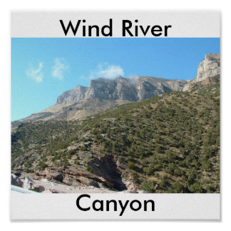 Wind River Canyon Poster