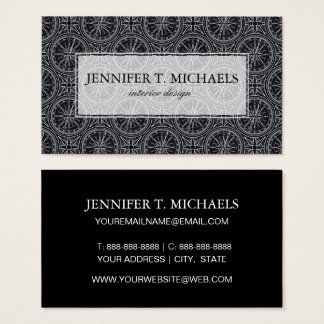 Wind Rose Compass Pattern Business Card