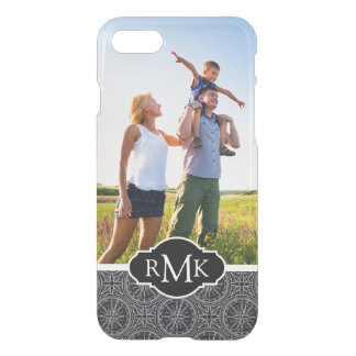 Wind Rose Compass Pattern| Your Photo & Monogram iPhone 7 Case
