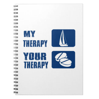 Wind Sailing designs and gift items Spiral Note Book