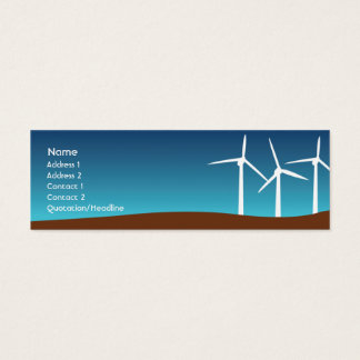 Wind Towers - Skinny Mini Business Card