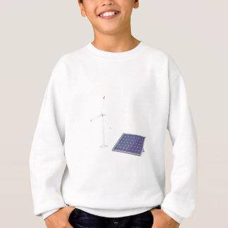 Wind turbine and solar panel sweatshirt