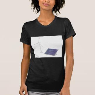 Wind turbine and solar panel T-Shirt