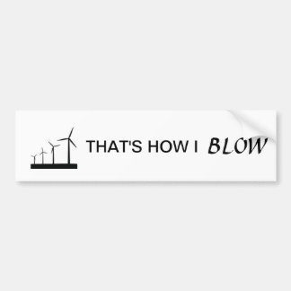 Wind turbine bumper sticker