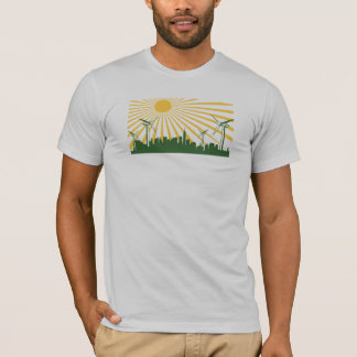 Wind Turbine City T-Shirt