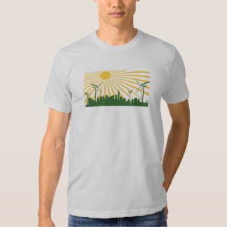 Wind Turbine City Tee Shirts