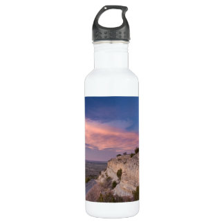 Wind Turbine in west Texas at Sunset 710 Ml Water Bottle