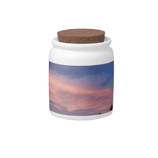 Wind Turbine in west Texas at Sunset Candy Jars