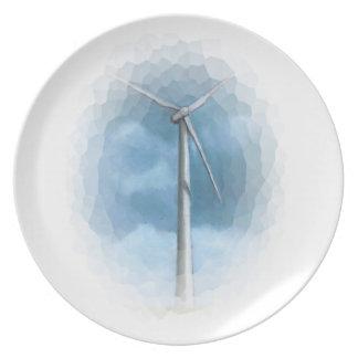Wind Turbine: Stylized Freehand Illustration Plates