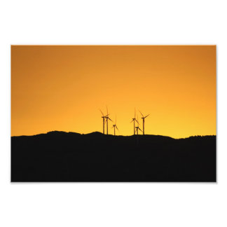 Wind Turbines at Sunset Photo Print