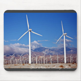 Wind turbines mouse pads