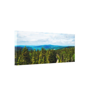 Wind Turbines | Natural Landscape Panorama Canvas Print