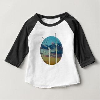Wind Turbines Painted Sky Baby T-Shirt
