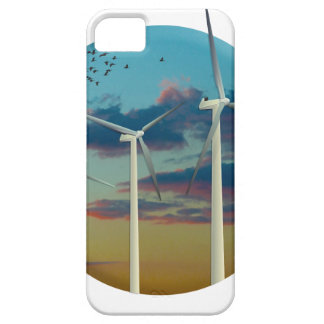 Wind Turbines Painted Sky Barely There iPhone 5 Case