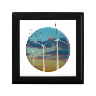 Wind Turbines Painted Sky Gift Box