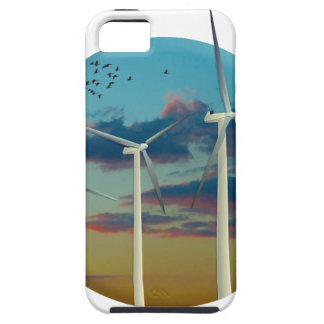 Wind Turbines Painted Sky iPhone 5 Case