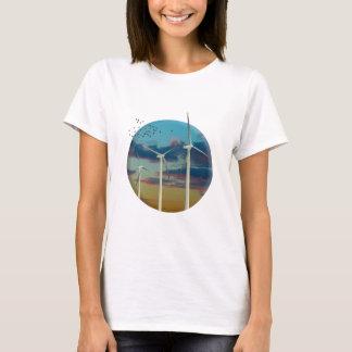 Wind Turbines Painted Sky T-Shirt