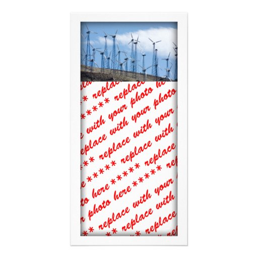 Wind Turbines Photo Card