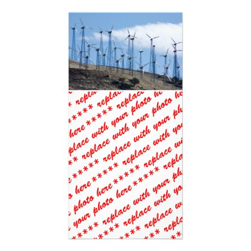 Wind Turbines Customized Photo Card