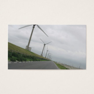 Wind Turbines Road Ahead Photo Card
