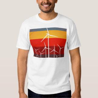 Wind Turbines Vintage Style T-shirts