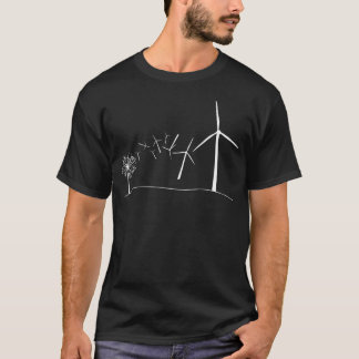 Wind Turbines White T-Shirt