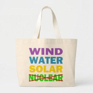 Wind Water Solar No Nuclear Jumbo Tote Bag