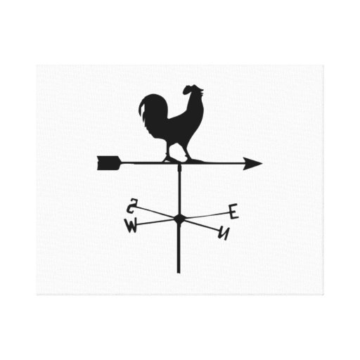 Wind Weather Vane Stretched Canvas Print