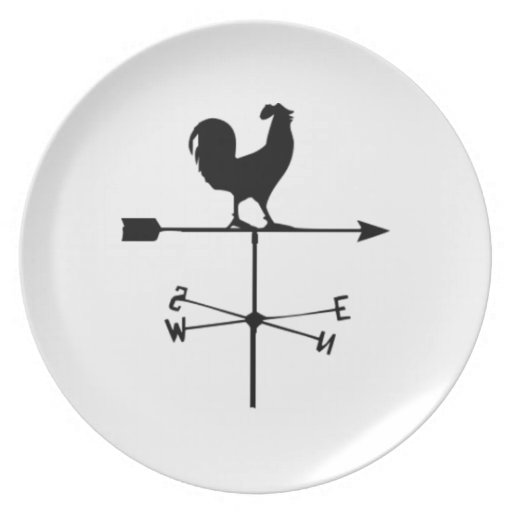 Wind Weather Vane Party Plate