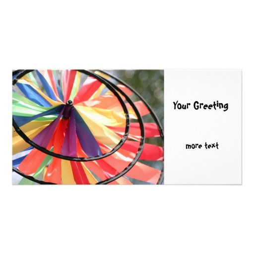 Wind Wheel Photo Greeting Card