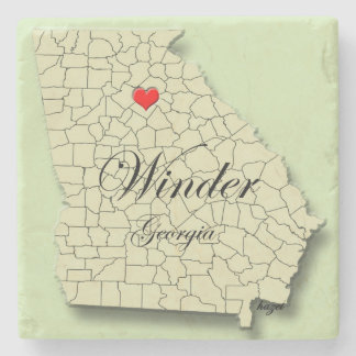 Winder, Georgia, Heart, Map, Coasters
