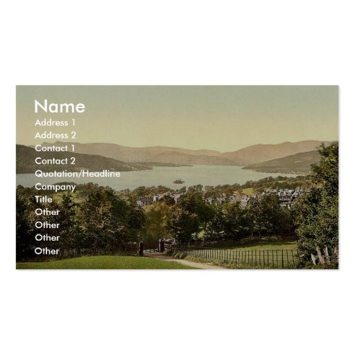 Windermere, from summit, Lake District, England ra Business Cards