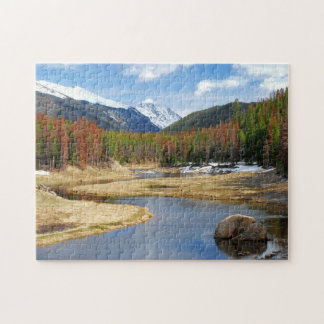 Winding Colorado River With Mountains and Pines Puzzle