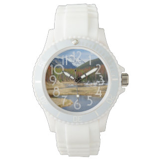 Winding Colorado River With Mountains and Pines Wristwatches