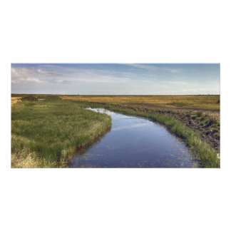 Winding River By The Coast Photo Card Template
