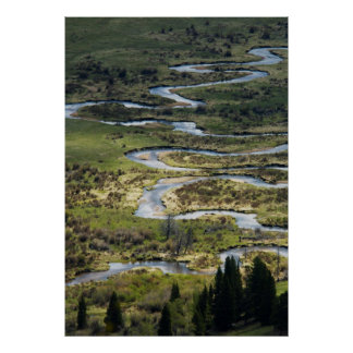 winding river in rmnp poster