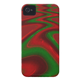 Winding Road Green and Red Blackberry Case