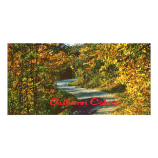 Winding road photo card