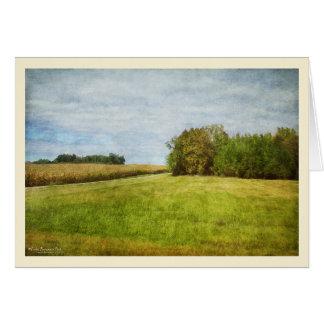 Winding Road Through Cornfields Card
