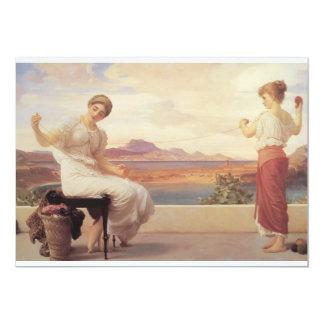 Winding the Skein Yarn Fine Art 13 Cm X 18 Cm Invitation Card